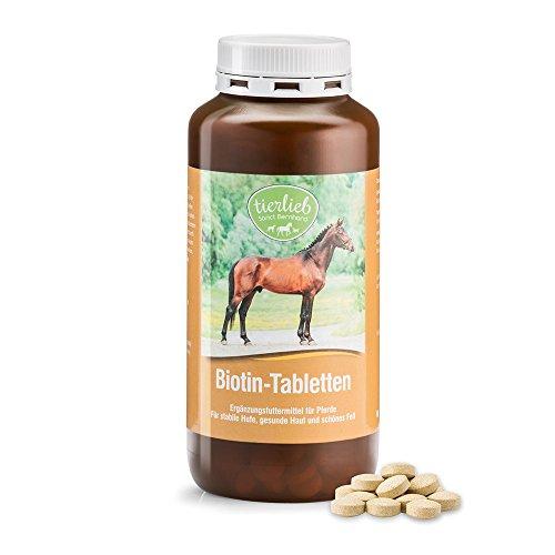 tierlieb Biotin-Tabletten Ergänzungsfuttermittel für Pferde für stabile Hufe, gesunde Haut,...