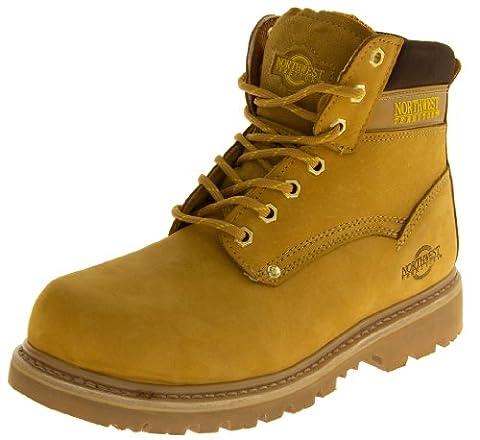 NORTHWEST TERRITORY Mens cuir Chaussures de sécurité avec coque couvre-orteils de sécurité antidérapant acide D