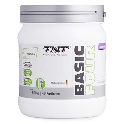 Pre Workout Booster Fitness - Creapure Creatin-Monohydrat, Tyrosin, Beta-Alanin - Trainingsbooster / 500g WHITE APPLE - Pump Pre-workout Creatin