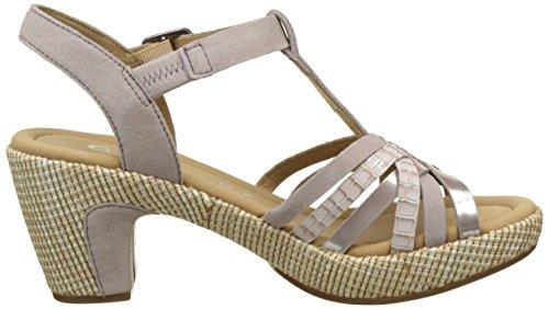 Gabor Shoes Comfort, Sandali con Zeppa Donna Beige (nude ba.st)