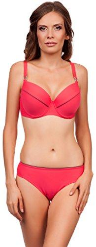 Lorin Damen Bikini Doris LO5361 (Coral/Beige, Cup 85 F / Unterteil (F Ideen Kostüme)