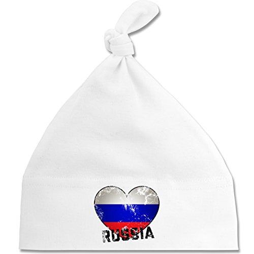 Shirtracer Fußball-Weltmeisterschaft 2018 - Baby - Russia Herz Vintage - Unisize -...