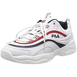 Fila Ray Low Wmn 1010562-150, Zapatillas para Mujer, Blanco (White, 39 EU