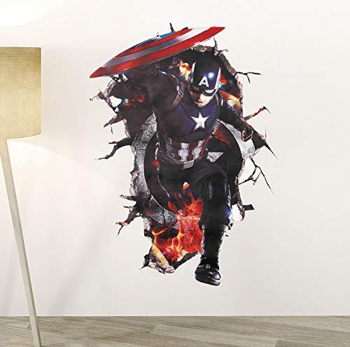 Avengers Superhelden 3D Durch Wandaufkleber Für Kinder Jungen Raumdekoration Poster Tapetewandaufkleber ()