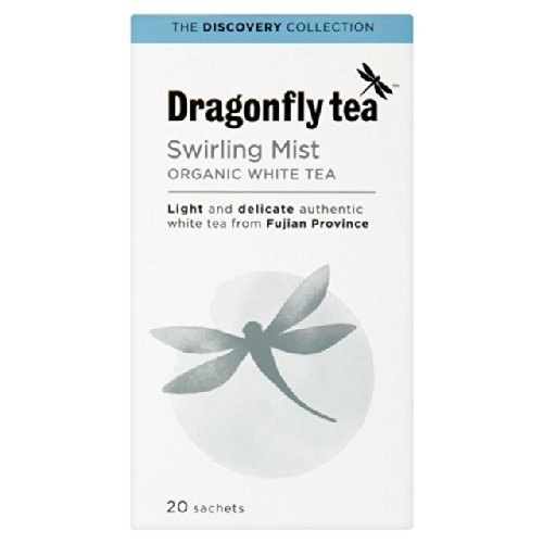 (10 PACK) - Dragonfly Tea - Org Swirling Mist White Tea | 20 sachet | 10 PACK BUNDLE