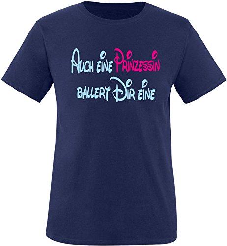 Luckja Auch eine Prinzessin ballert dir eine Kinder T-Shirt (Bonnie Und Clyde Kostüme Für Kinder)