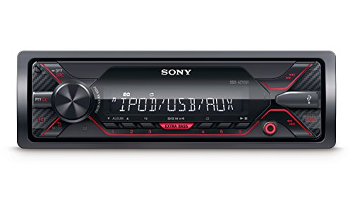 Sony DSX-A210UI Autoradio senza Lettore CD, Ingresso AUX e USB per iPhone/iPod, Android Music Playback, Potenza 4 x 55 W, Compatibile con File FLAC