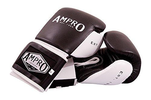 Ampro-Madison-MKII-Velcro-Guantes-de-boxeo-color-negro-y-blanco