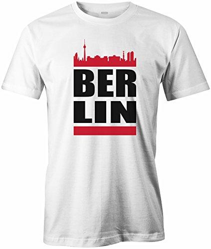 Jayess Berlin Skyline - Herren - T-Shirt in Weiss by Gr. L