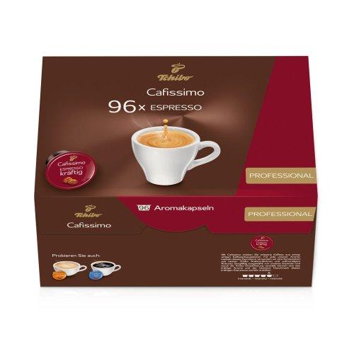 Tchibo Cafissimo 96er Kapseln Espresso kräftig, Professional Vorratsbox