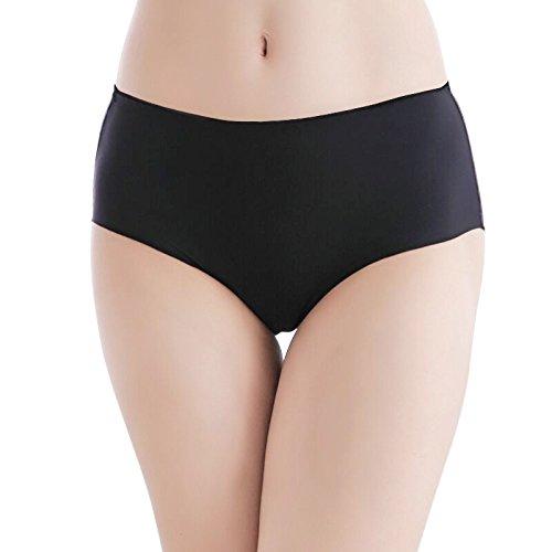 Damen Unterhose Panties von COLLEER, ultra Soft Bequem Nahtlos Alltags Hüftslip Panty Slips aus Baumwolle 3 Pack 3*Schwarz