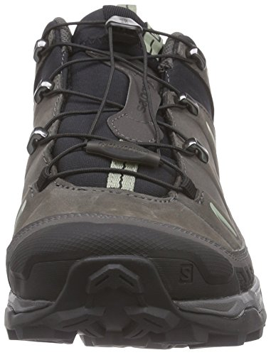 Salomon X Ultra Leather, Scarpe da Arrampicata Uomo Nero (Black/Autobahn/Green Clay)