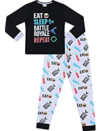 31bde2569c The Pyjama Factory Eat Sleep Battle Royale Repeat Gaming Cotton Long Pyjamas