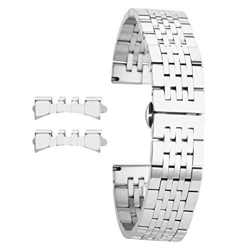 18mm Splitter Edelstahl Uhrenarmband für Mens arbeiten Uhrenarmband Armband