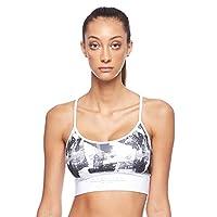 BodyTalk Women's MOODW Sports Bra With Transparent Mesh Back, White, Medium