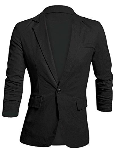 allegra-k-hommes-manche-longue-revers-crante-boutonne-slim-moulant-decontracte-lin-blazer-noir-m-38