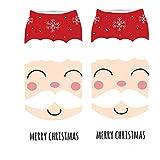 KPILP 1 Paar frauen 3D Cartoon Print Sneakersocken Lustige Weihnachten Baumwollsocken Crazy Cute Winter Warm Erstaunliche Neuheit Print Ankle Freizeitsocken,B