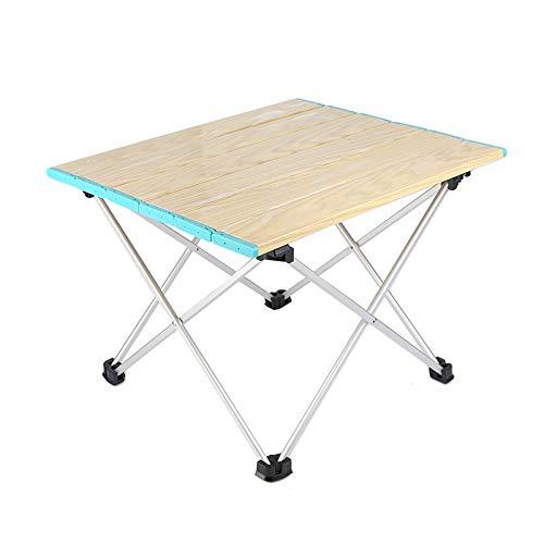 F&W SYN Faltbarer tragbarer Leichter Aluminium-Tisch mit Tragetasche für Outdoor, Camping, Wandern, Picknick, Angeln, Party, 41,9 cm Länge x 13,8 cm Breite x 7,5 cm Höhe hellblau