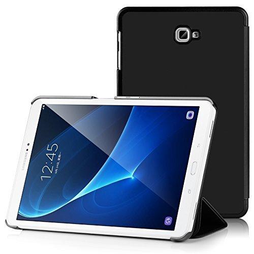 IVSO Samsung Galaxy Tab A 10.1 Etui Housse Slim Smart Cover Housse de Protection pour Samsung Galaxy Tab A 10.1 2016 SM-T580N / T585N Tablette, Nior