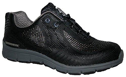 Groundwork Herren Stahlkappe Sicherheit Ultra Light Gewicht Arbeiten mit Spitze Trainer Schuhe, Schwarz, 45 EU (11 ()