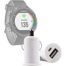 DURAGADGET 1 Amp Socket In Car Cigarette Charger - Compatible with Garmin Forerunner 10|15|35|110|210|220|230|235|310XT|610 GPS|620|645|735 XT|910TX|920XT|935 Sports & Running Watch