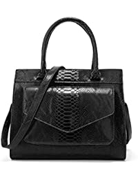 223c454c2e Rrock Borsa a Mano Donna Moda Pelle di Serpente Modello Zipper Messenger  Bag Grande capacità Semplice