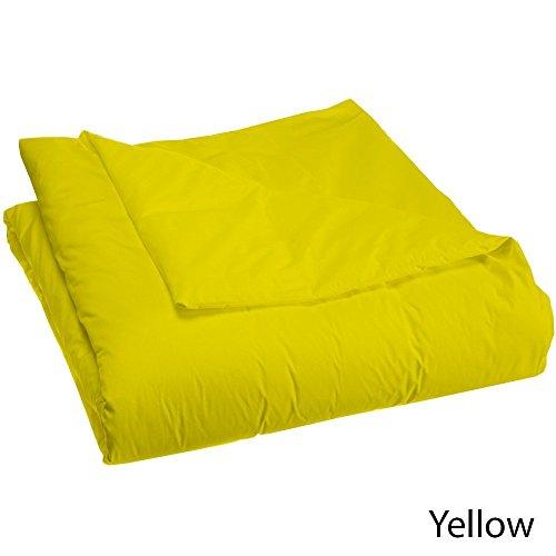 600tc Tröster–1Stück Faser Füllen 300gsm Italienisches Finish gelb massiv Farbe uk-small Doppelbett 100% ägyptische Baumwolle–by Exklusive Bettwäsche