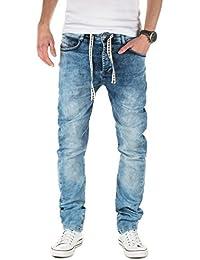 Yazubi Herren Sweathose in Jeansoptik Desmond - Jogginghose in Jeans-Look