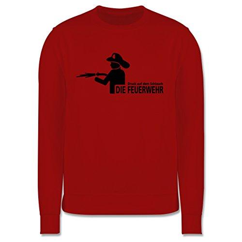 Feuerwehr - Druck auf dem Schlauch - Die Feuerwehr - Herren Premium Pullover Rot