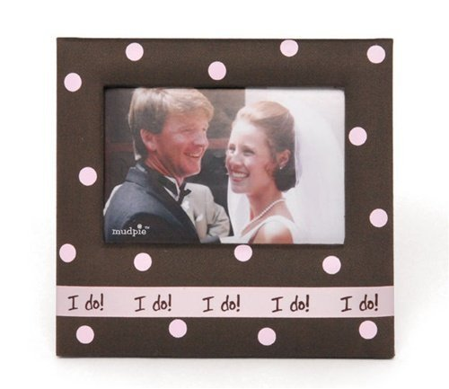 pink-and-brown-i-do-photo-frame-by-mud-pie-wedding-picture-frame-by-advantage-bridal