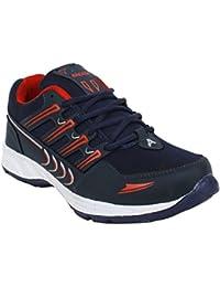 Arexon Men's Synthetic Blue Colored Sport Shoe( Men's Running Shoe, Breathable Sports Shoe, High Grip Sports Shoe... - B074Q1ZQ77