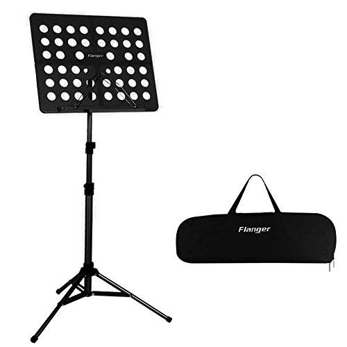 Leggio musicale kobwa pieghevole regolabile in altezza portatile piccolo partizione per orchestra con custodia per il trasporto (nero)