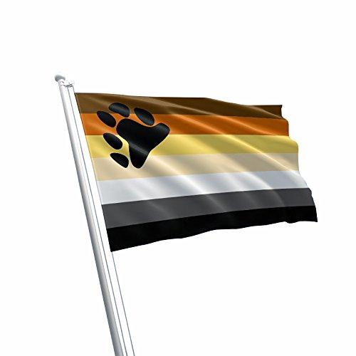 Große Bär Gay Pride LGBT Rainbow Flagge (90x 150cm) -