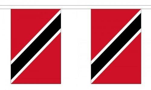 9 Meter 30 (22.86 cm x 15.24 cm) Flagge Trinidad &Tobago 100% Polyestergewebe Wimpelkette Ideale Dekoration für Haus Schulen, Kneipen Und Clubs Street (Trinidad Tobago-embleme Und)