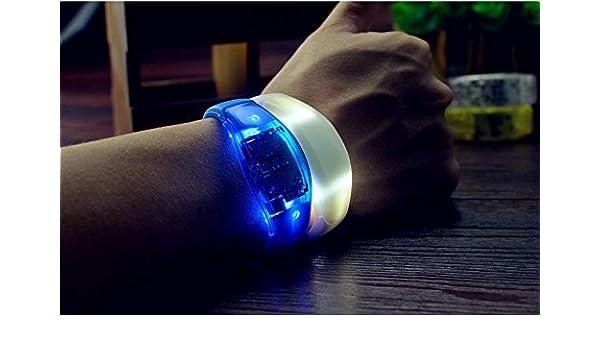 Neu 1X Neu LED Ton Armband leuchtet Schmuck Leuchtarmband