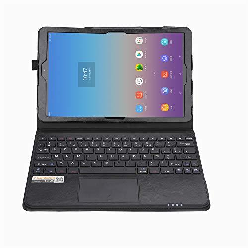 MQ pour Galaxy Tab A 10.5 - Etui avec clavier français (AZERTY) pour Samsung Galaxy Tab A 10.5 LTE SM-T595, Galaxy Tab A WiFi SM-T590 | Housse avec clavier bluetooth, touchpad (pavé tactile) intégré