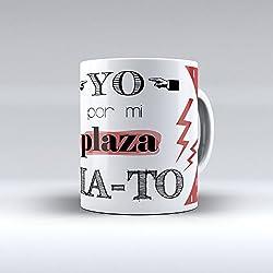 """Taza cerámica desayuno regalo original Opositor oposiciones """"Yo por mi plaza MA-TO"""""""