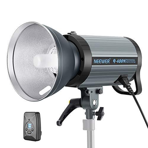 Neewer 400W GN65 Studio Flash Strobe Licht Slave Blitzlichtgeräte Blitzlicht Monolicht mit 2,4G Drahtlos Auslöser und Einstelllampe Bowens Mount für Studio Fotografie(Q400N)