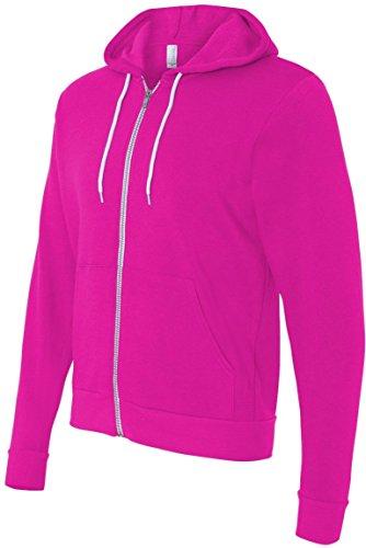 Bella+Canvas: Unisex Poly-Cotton Full Zip Hoodie 3739 Neon Pink
