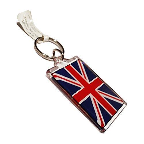 My London Souvenirs Schlüsselring/Schlüsselanhänger Motiv britische Flagge Union Jack, Acryl -