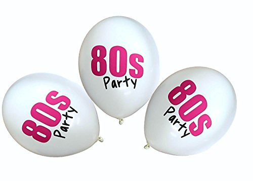 80s Party Balloons. 3, 6 or 12 pack