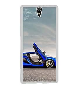 FUSON Designer Back Case Cover for Sony Xperia C5 Ultra Dual :: Sony Xperia C5 E5533 E5563 (Luxury car designs Blue color car design Extreme car design Ultimate car design Speedy car design Sport car design)