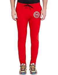 American-Elm Men's Red Stylish Cotton Printed Lower