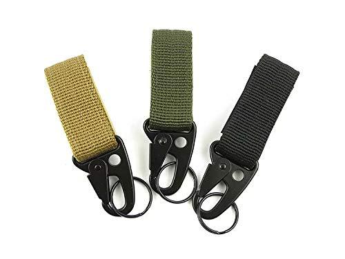 3x Taktischen Molle Haengenden Karabiner Schluesselhaken Gurt Schnalle Schwarz+Armee Grün+Khaki - Hängenden Arm-unterstützung