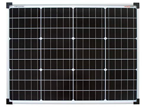 enjoysolar® Monokristallin 50Watt 12V Solarmodul Solarpanel Mono 50W ideal für Garten Wohnmobil Caravan