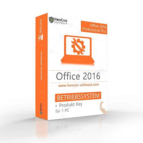 Microsoft® Office 2016 Professional Plus ISO DVD 32/64 Bit mit Lizenzschlüssel und Hencon Box