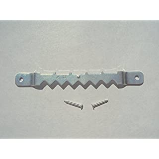 3 ( 3 Inch ) Zinc Plated Sawtooth Hangers with Nails by AMS - 100 Hangers / 200 Nails. Highest Quality. Great for framing applications. by AMS