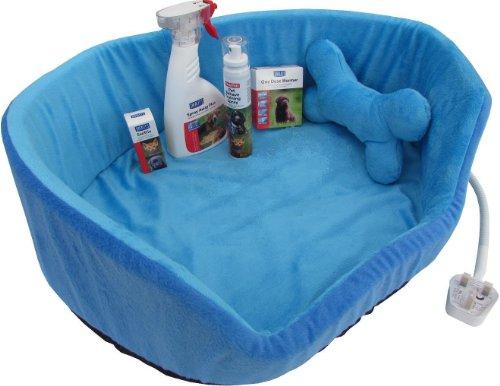 Nuevo paquete de cachorro para después de forro polar con cama climatizada...