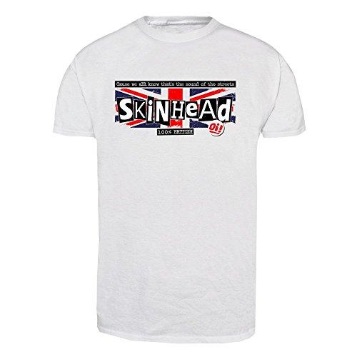 """Skinhead """"100 % British"""" T-Shirt (weiss) Weiß"""