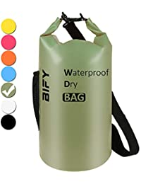 Dry Bag 5L/10L/15L/20L/25L/30L/40L 7 Farbe BIFY Leicht Wasserdichter Packsack/Wasserdichte Tasche/Trockensack lang Schulter Verstellbarer Schultergurt für Boot Kajak Wassersport Treiben